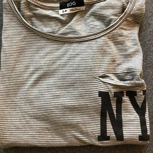 striped vintage NY pocket tee